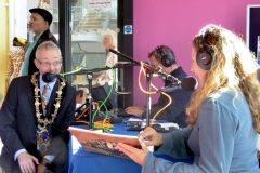 Linzi Morgan from the Arts Show  interviews John Bicknell, Mayor of Stratford upon Avon