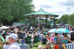 The band stand at The River Festival 2019