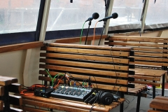 Our floating studio on the Princess Marina