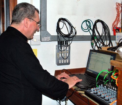 Peter prepares a playlist of Polish music.